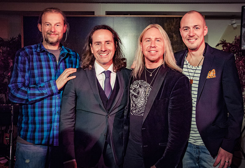 Det fantastiska bandet med Morgan Ågren på trummor, Peter Majanen, Stefan Gunnarsson på klaviatur och Klas Folkesson på saxfon