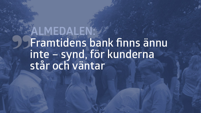 Almedalen: Framtidens bank